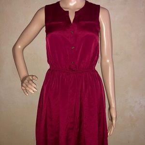 Maison Jules Sleeveless Cinched-Waist Dress
